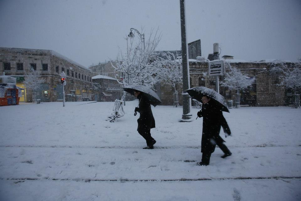 Another Israeli Street Covered with Snow